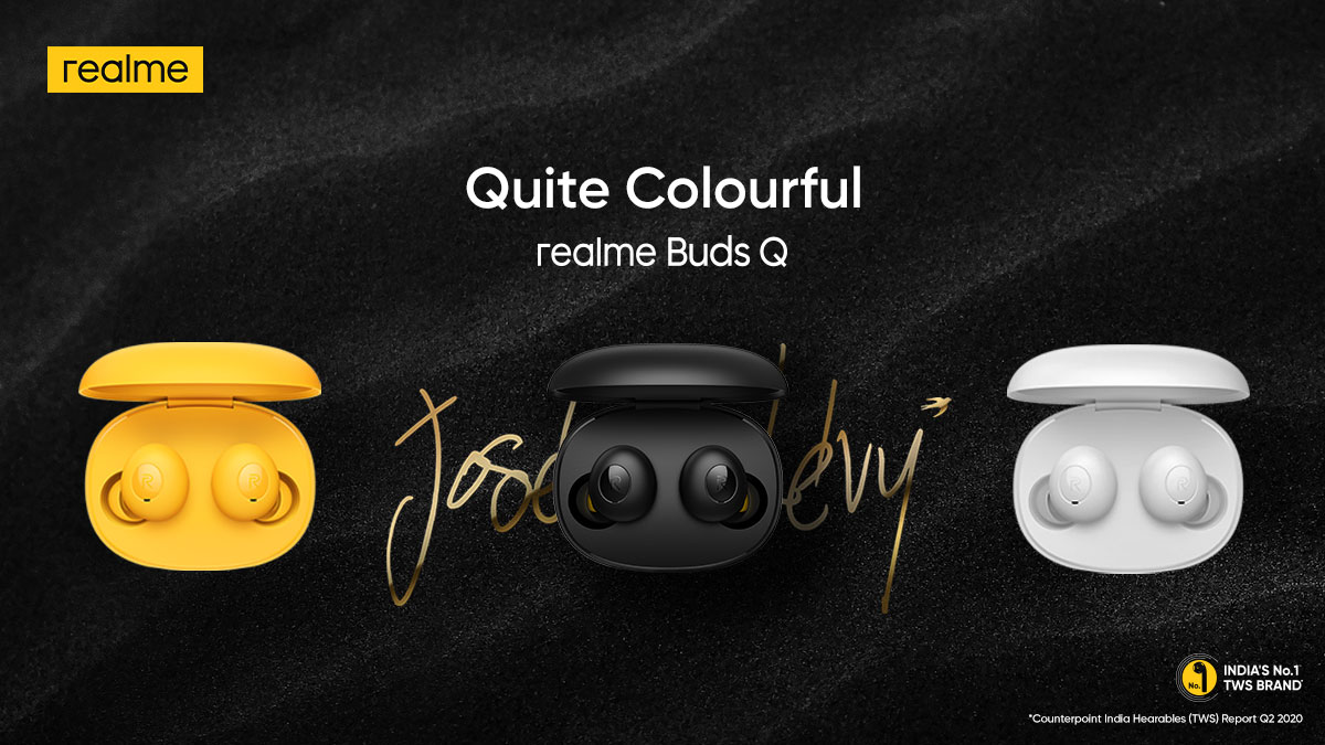 Enjoy #QuiteStylishTrueWireless audio experience in your own choice of style. Take your pick from the 3 fabulous variants of #realmeBudsQ.   Available on  & @Flipkart.   Buy now:
