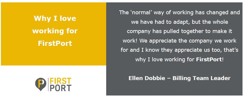 Wow, it's Wednesday, we're half way through the week and our 3rd day sees Ellen Dobbie, Billing Team Leader, who is based at our New Milton office share why she loves working at FirstPort. Interested in entry level finance roles?, check out  for more info.