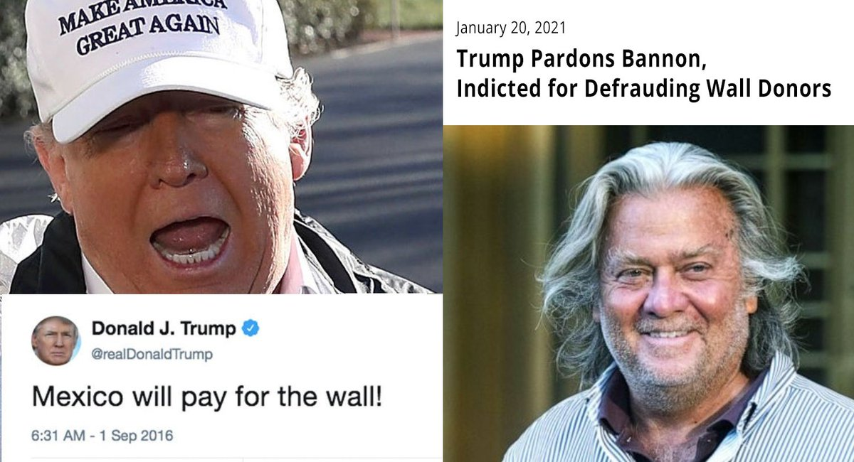 How it started and how it ended... #Pardons #SteveBannon