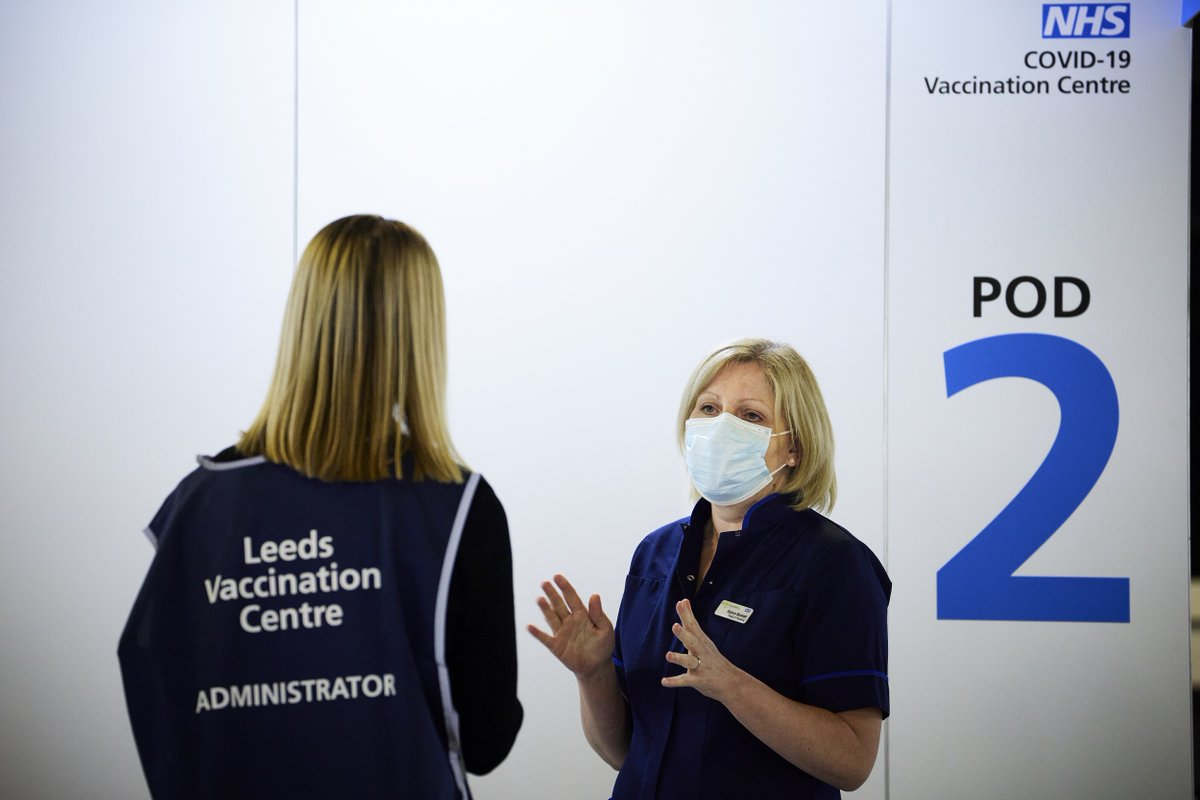 We are delighted to announce that frontline health and social care staff from across Leeds are now able to have their COVID-19 vaccination at Leeds Vaccination Centre - Elland Road 1/3