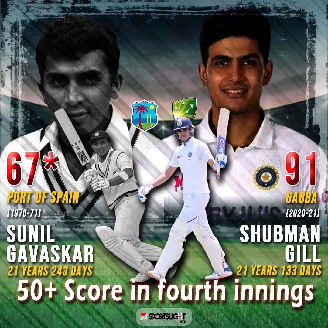 .@RealShubmanGill - The highest and the youngest !!! #TeamIndia  #Gabba #Brisbane #INDvsAUS #IndiavsAustralia #IndianCricketTeam #India #AUSvsIND #AUSvIND #Ausvsindia #AUSvINDtest #BleedBlue #Gill #GabbaTest #brisbanetest #sportslightmedia #RishabPant #SirajMohammed #Shubmangill