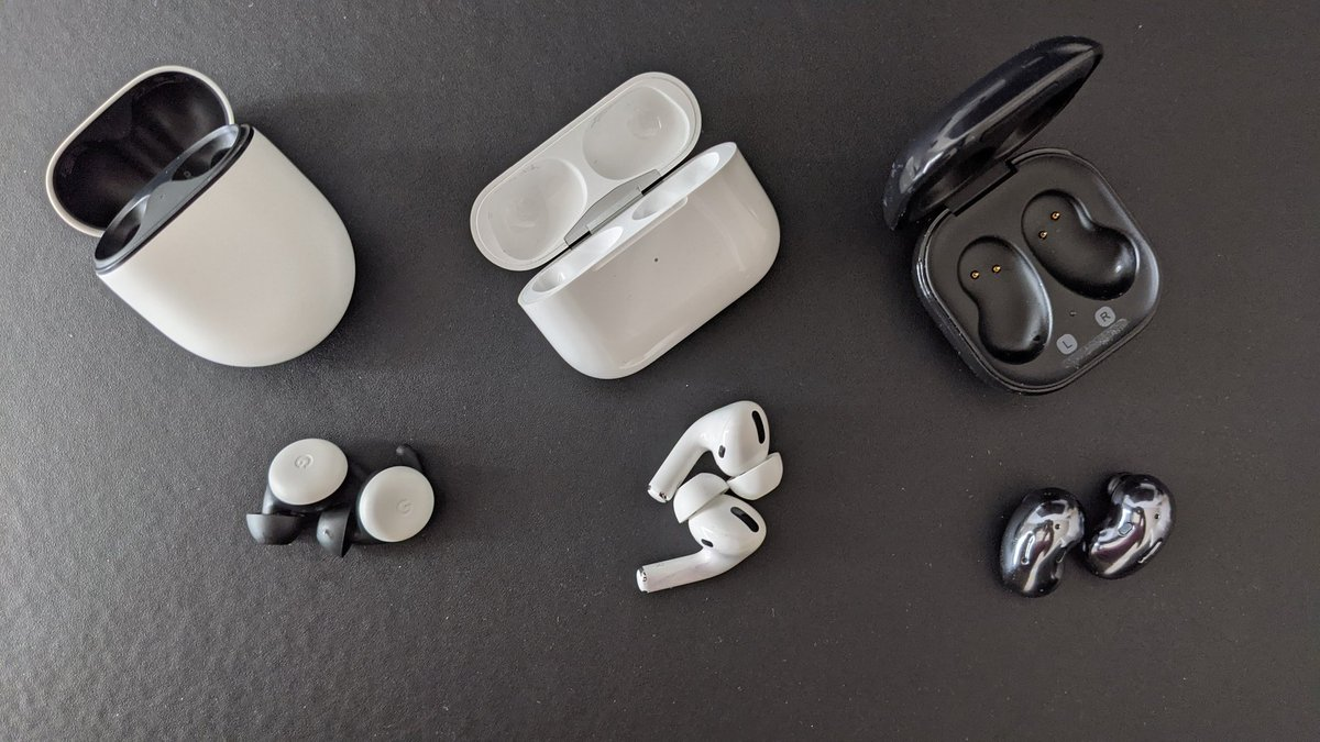 Airpods Pro For Android 🤔    #Apple #AirPods #airpodspro #Android #GalaxyZFold2 #worthit #Bloggers #Blog #Pixel #pixelbuds #GalaxyBudsLive #galaxy #Samsung #samsungfold2