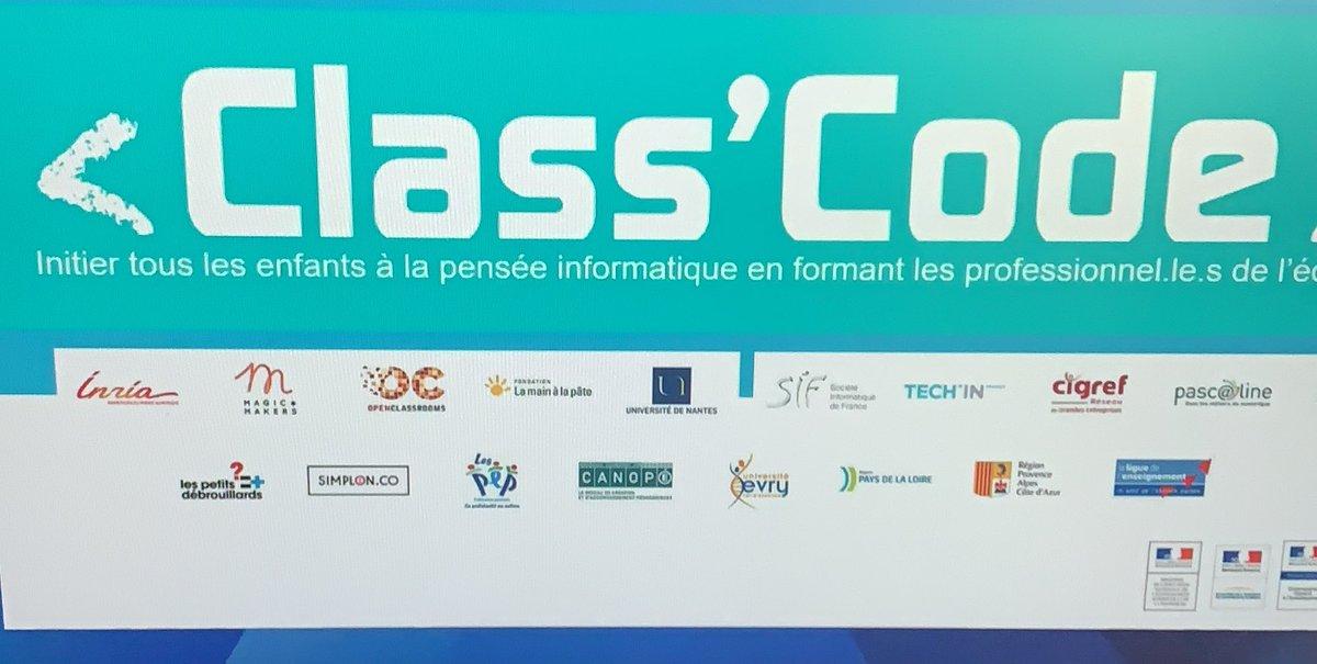 Le projet @classcode_fr a pour ambition l'appropriation du numérique et en particulier du #code #datas #IA #eidos64 [#thread]