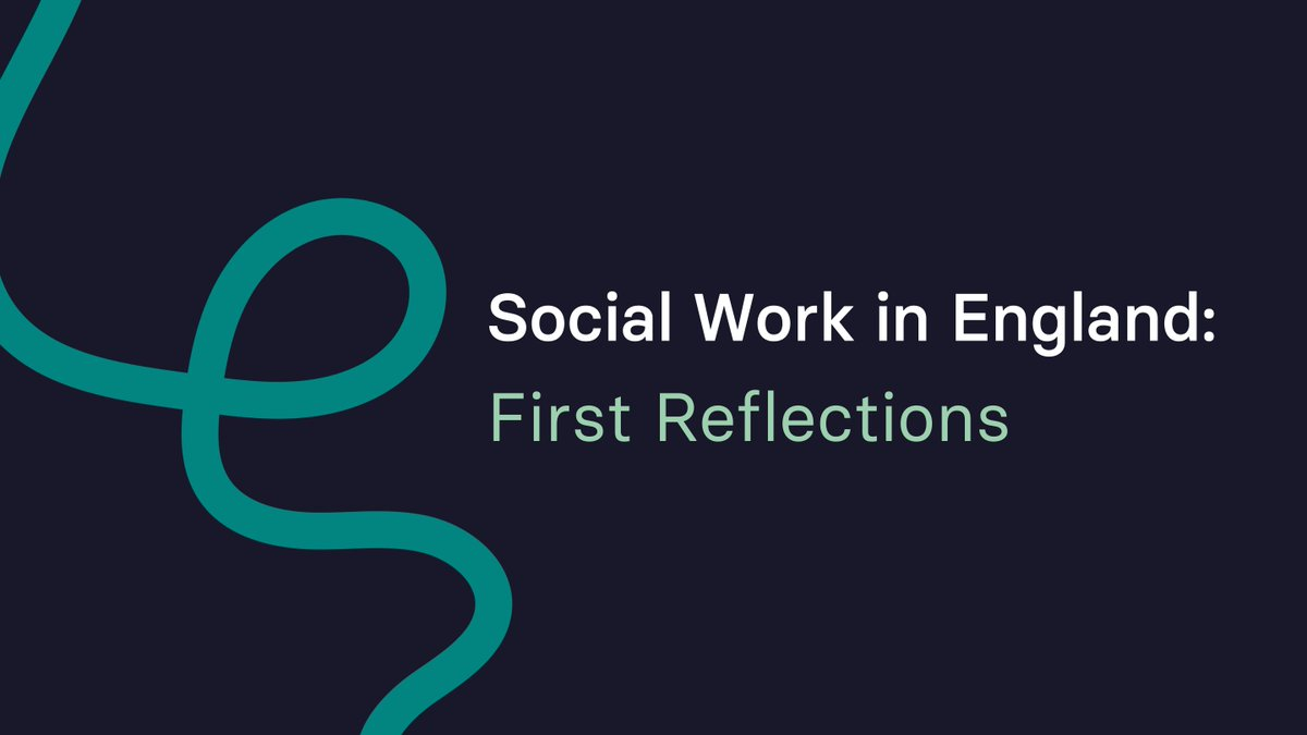 We are pleased to publish our report 'Social Work in England: First Reflections', the first of 2 interim reports on social work in which we share our reflections on our first year as the new specialist regulator for social workers in England. (1/2)