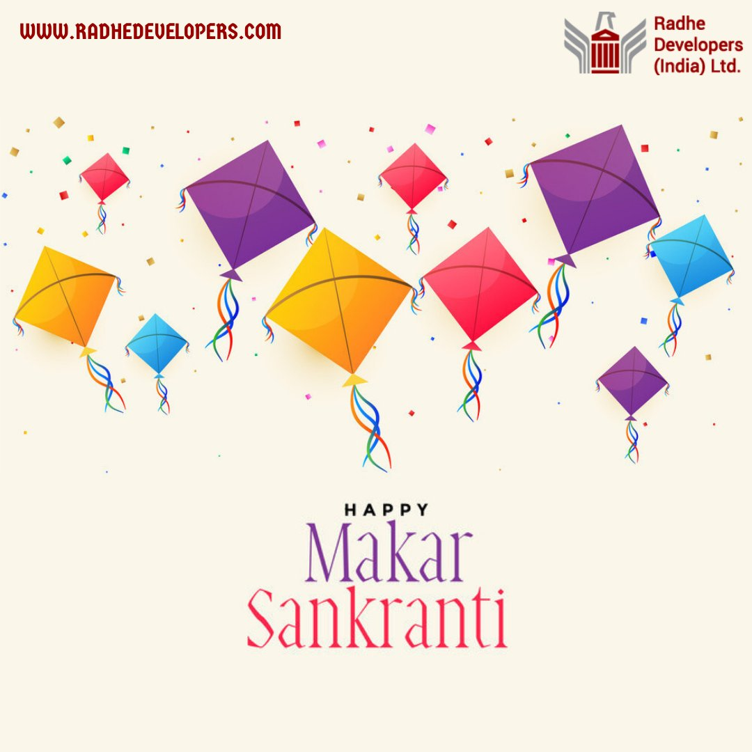 Wishing you all a Happy Uttarayan, Makar Sankranti 🪁  #radhedevelopers #sankranti #india #makarsankranti #festival #uttarayan #kitefestival #kites #patang #kiteflying #internationalkitefestival #kite #happymakarsankranti
