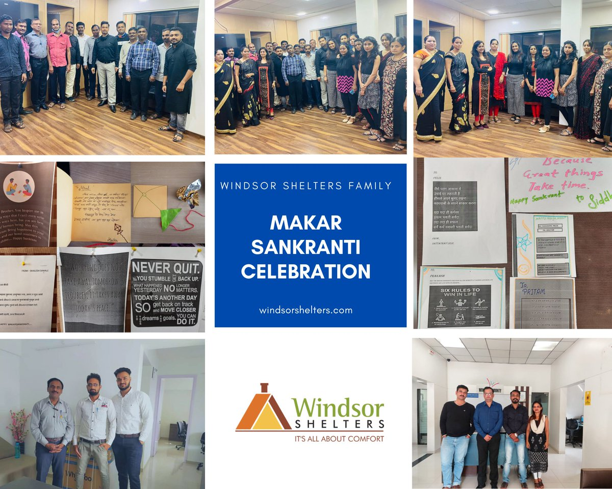 #MakarSankranti2021 Celebration with #Windsorshelters family!!!  We at Windsor Shelters organized activity  to write a compliment/good thought/Quote for each other as per the partners assigned. Everyone's participation in the activity was overwhelming.