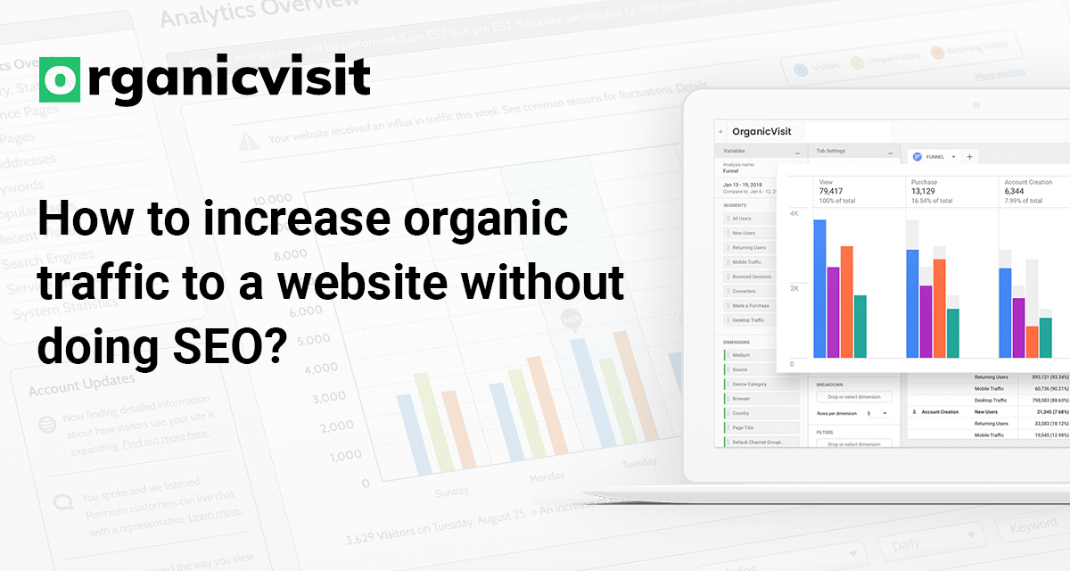 How to Increase Organic Traffic to a Website without Doing SEO? Visit - https://t.co/uGZOVjtblB  #buywebsitetraffic #increaseorganictraffic #buyorganictraffic #DigitalMarketing https://t.co/ud3jDP5bC4
