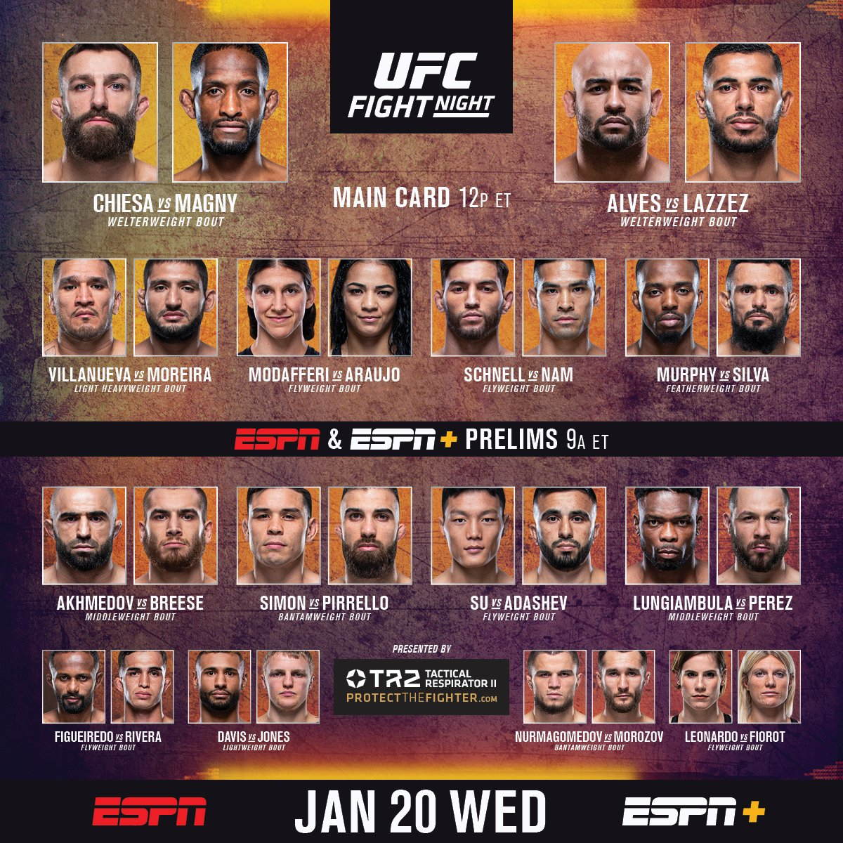 #UFCFightIsland8 prelims are LIVE and FREE on @espn and #ESPNPlus in 30 minutes!  #InAbuDhabi @VisitAbuDhabi https://t.co/D70J4TOHe0