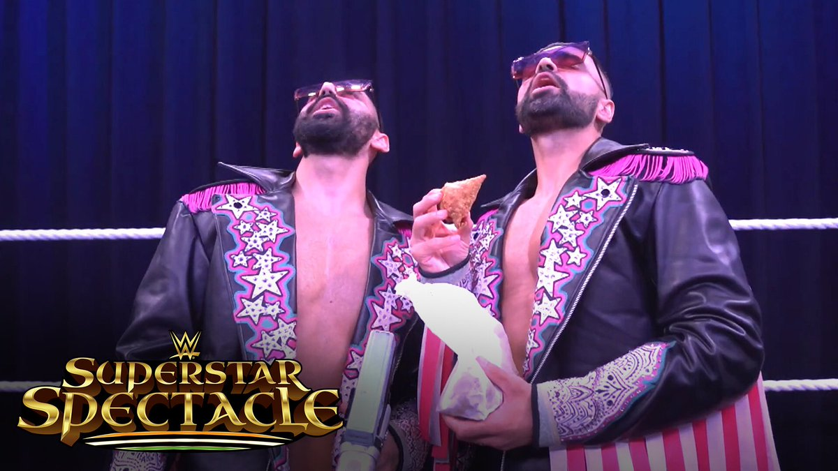 The @BollywoodBoyz never fail to put on a vibrant show!  👉   Reserve your seats in the #WWEThunderDome to watch them at #WWESuperstarSpectacle: