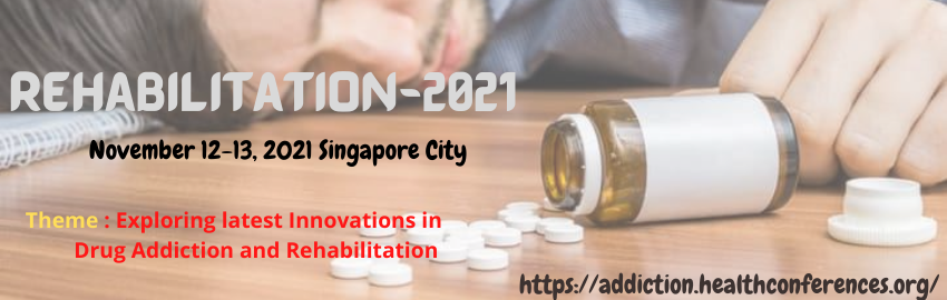 "Attend to our ""11th World Congress on #Drug #Addiction and #Rehabilitation Therapy"" conference scheduled on #November 12-13, 2021 in #Singapore. Theme: Exploring latest Innovations in Drug Addiction and Rehabilitation Email : rehabilitation@theexpertsmeet.com W: +32466903217"