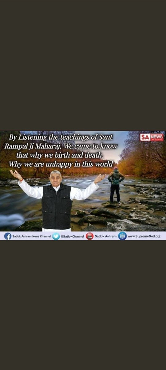 #SaturdayMotivation  Know the reasons behind birth&death..know the way how we can reach to the God.  Watch satsang on sadhna tv at 7:30 pm & #MustListen_Satsang by