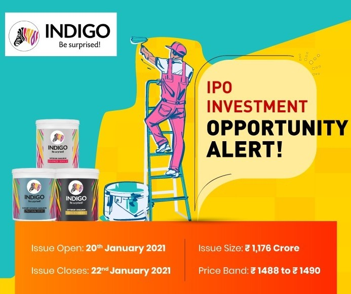 #IPO 2021 #Indigo Paints IPO starts today - It is the fifth largest decorative paints company in India and has a strong portfolio of products.