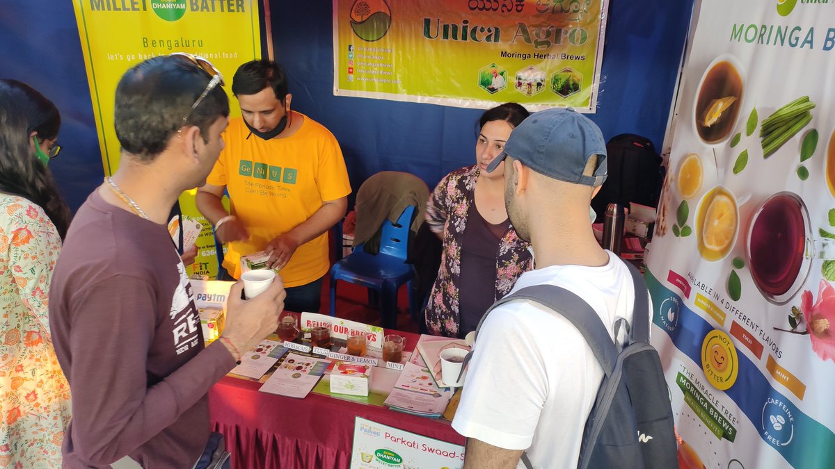 Swipe left to see 📸 from our recent event held on 16-17th Jan at Naisargik Santhe.  The event was a great success; our brews were relished by many and we expanded our Unica family.   #MoringaBrew #UnicaAgro #Moringa #Moringapowder #Moringabenefits #Moringaoleifera #Superfood https://t.co/MHGBZbbru9