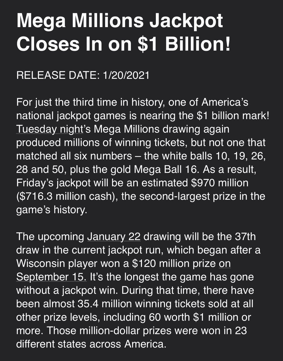 @RyanFieldABC's photo on Mega Millions