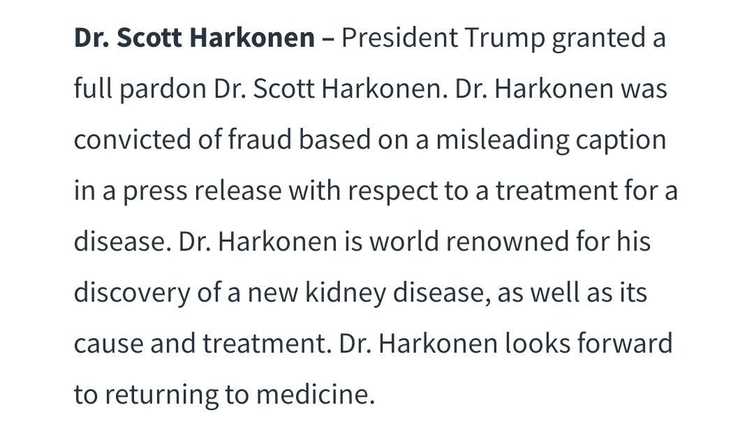 It's this #Pardons for me. Who's hiring the bad doctor?