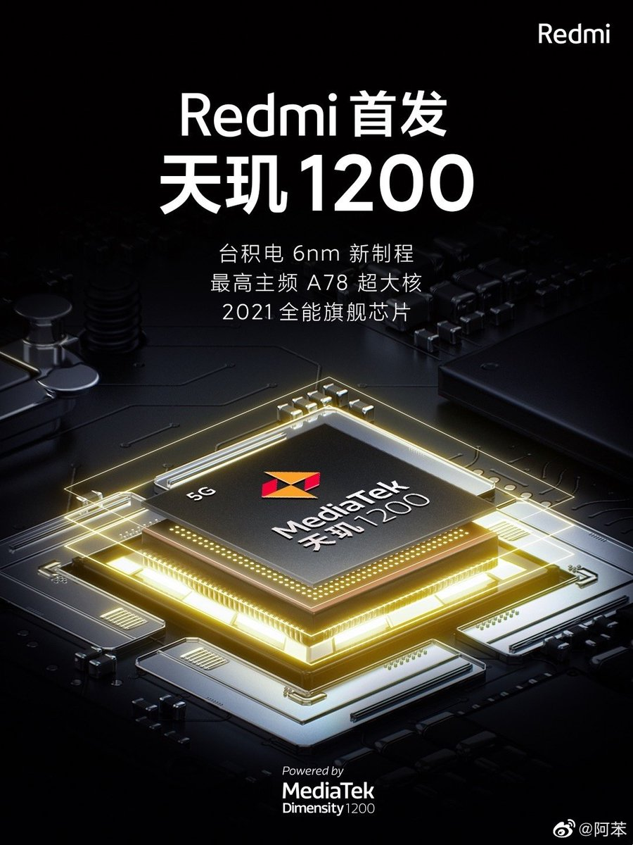 Replying to @TechnoAnkit1: Redmi will be first to launch smartphone with MediaTek Dimensity 1200
