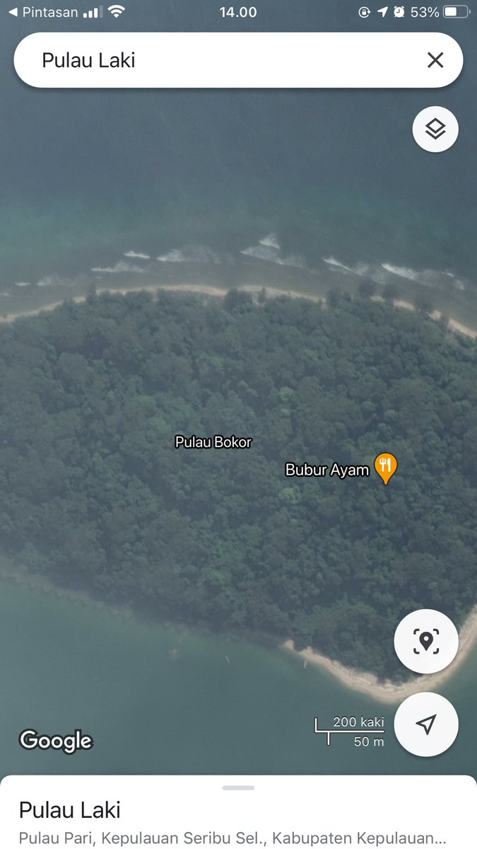 Kata my d pulau laki ada tulisan SOS ny, skrang ak mbuka googmpas buka d pulau bokor ada yg jual bubur ayam. Ini ada yg iseng apa gmn si?  #SriwijayaAirSJ182  #SriwijayaAir