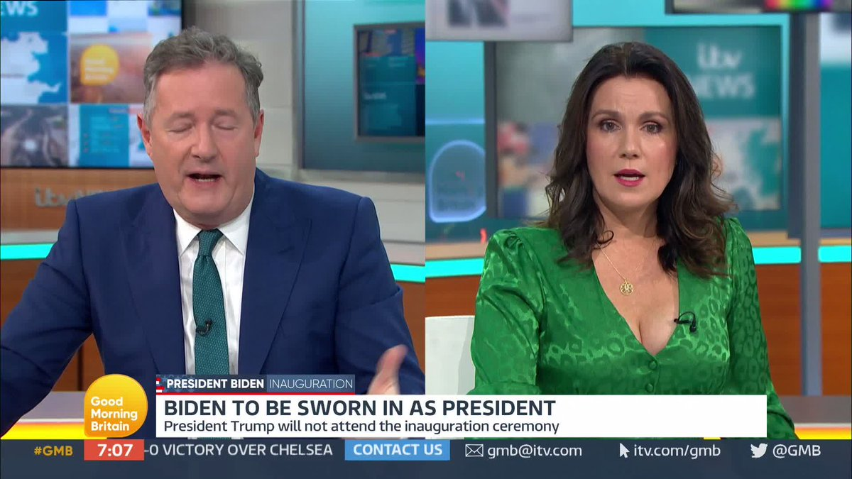 'I hope the Senate convict him because he needs to be stopped from running again.'  @piersmorgan and @itvnews Washington Correspondent @robertmooreitv discuss Donald Trump's final few hours in office as Joe Biden prepares to be sworn in as the 46th US President.