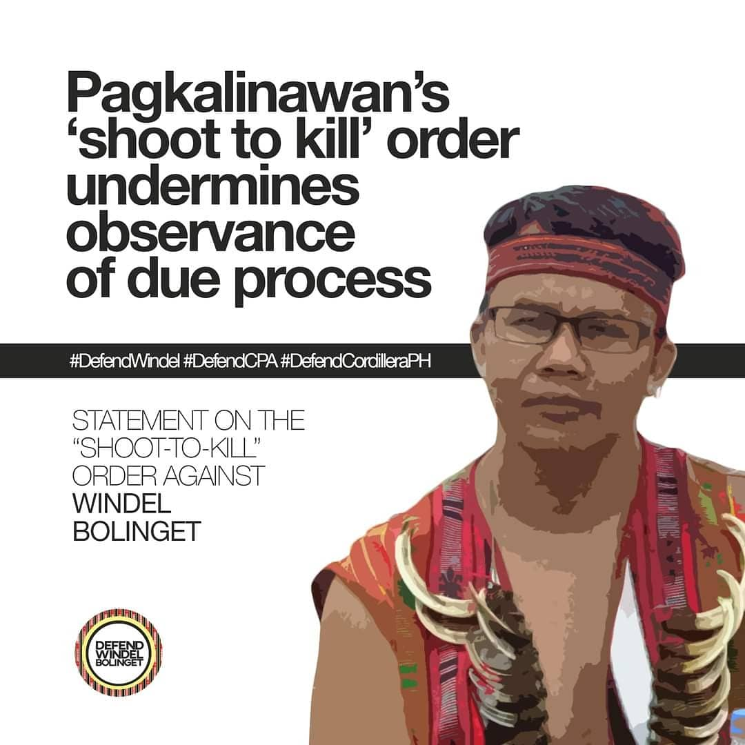 Cordillera police chief's Shoot-To-Kill order shows clear intent to kill Bolinget SIGN THE ONLINE PETITION TO DROP THE TRUMPED-UP CASE AGAINST MANONG WINDEL BOLINGET! ➡️ bit.ly/DefendWindelPe… ⬅️ #DefendWindelDefendCPA #DefendCordilleraPH #StoptheAttacks Read full on reply.