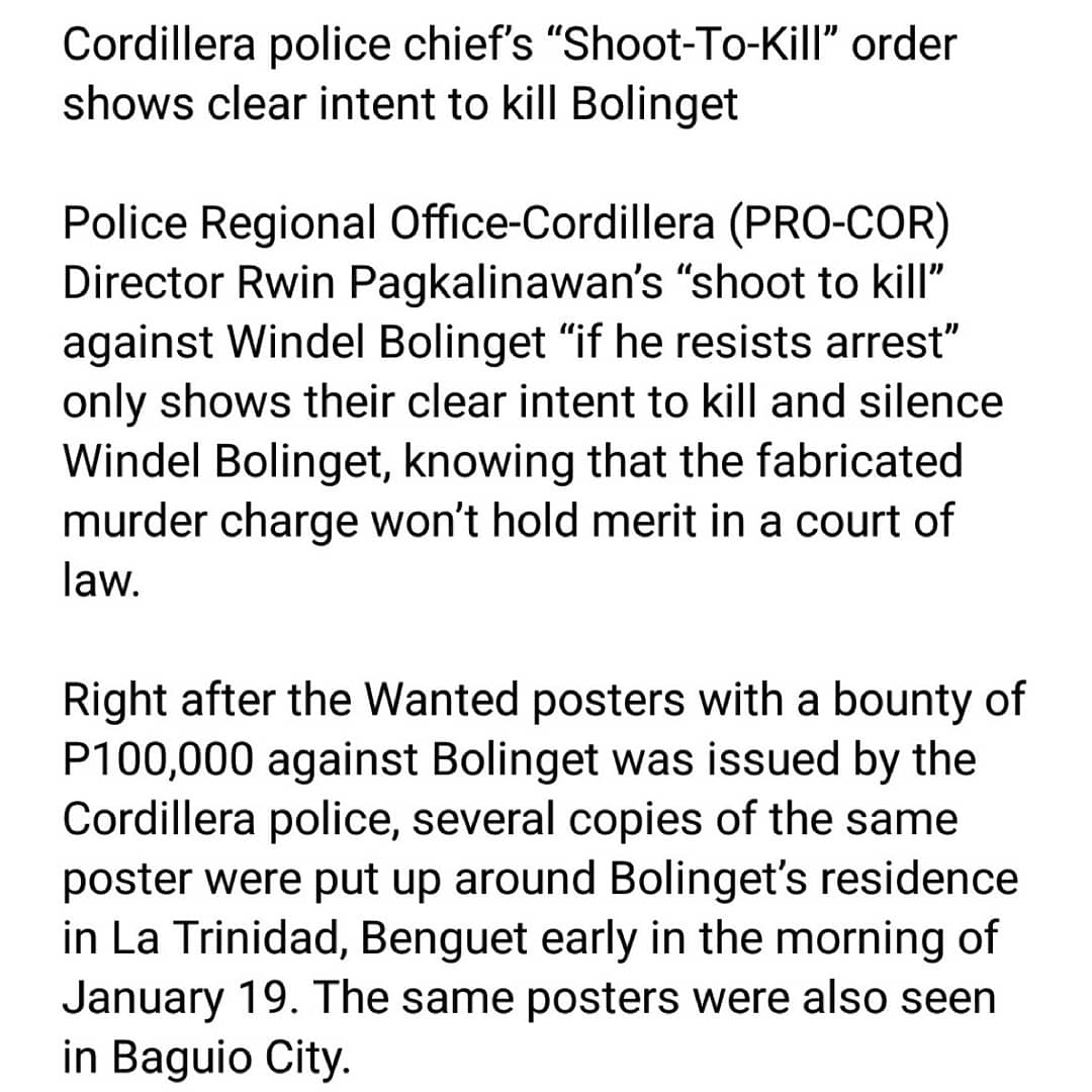 Full Statement here: SIGN THE ONLINE PETITION TO DROP THE TRUMPED-UP CASE AGAINST MANONG WINDEL BOLINGET! ➡️ bit.ly/DefendWindelPe… ⬅️ #DefendWindelDefendCPA #DefendCordilleraPH #DropTheCharges #StopTheAttacks
