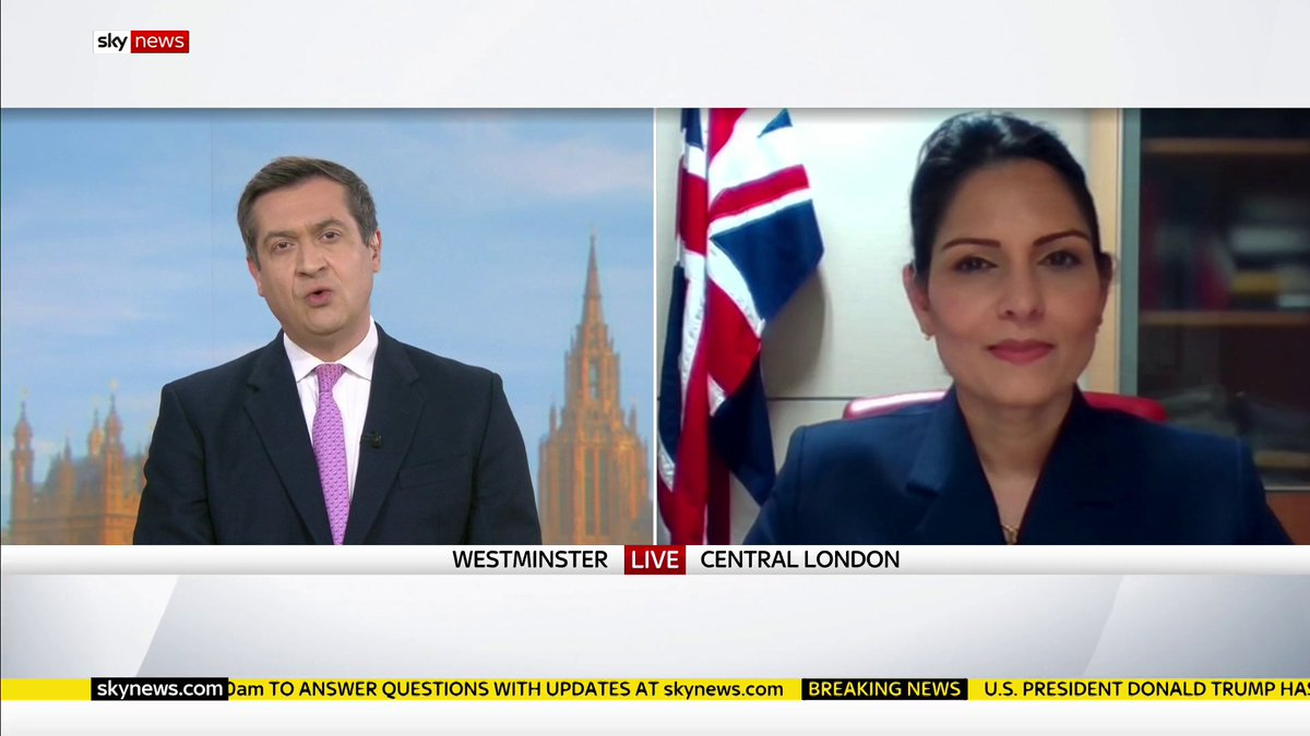 """The British government looks forward to working with President Joe Biden and his administration.""  Home Secretary Priti Patel says it's ""important our two nations come together"" and show ""global leadership"".  Get the latest from the US:"