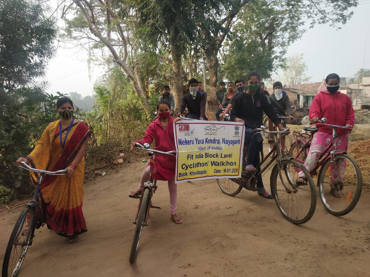 Organization of Cyclothon by volunteers for society (affiliated youth club of Nehru Yuva Kendra #Nayagarh) at khandapada block of Nayagarh .  #NewIndiaFitIndia @KirenRijiju | @YASMinistry | @RijijuOffice | @PMOIndia