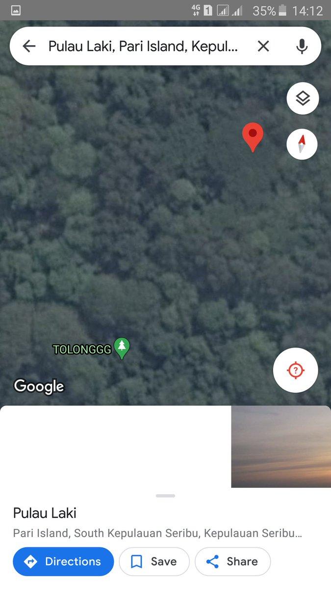 """Kenapa ada sinyal """"Tolonggg"""" di gmaps, ya? Ada yg bisa kasih info?  #pulaulaki  #SriwijayaAir  #Basarnas"""