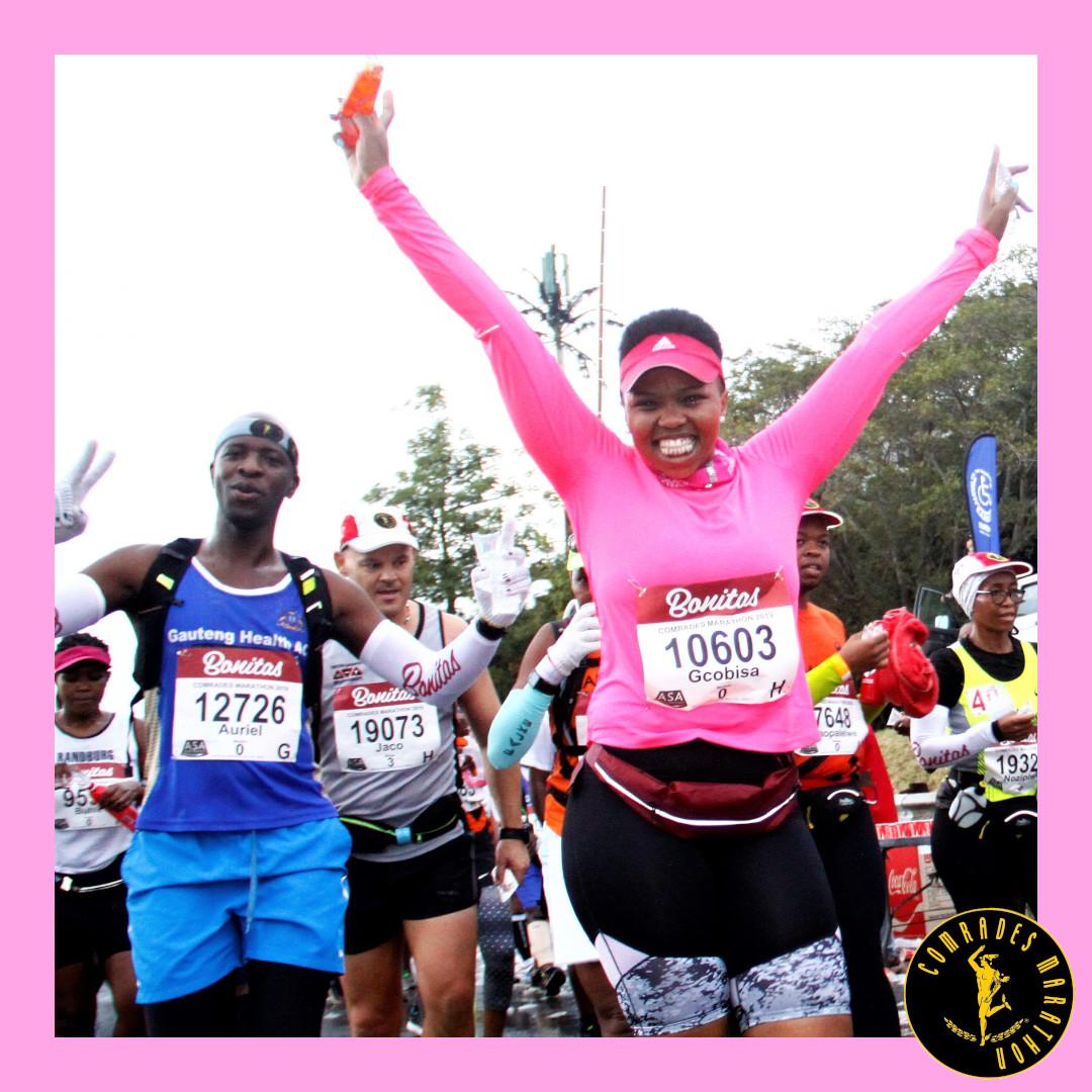 """On Wednesday's we wear pink"". 💖🏃♀️🙌🏻Happy Wednesday @ComradesRace runners.  #Wednesday #Pink #WonderfulWednesday https://t.co/xXBrdnrMJf"