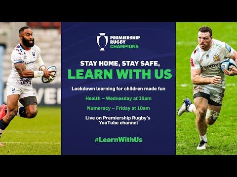 TODAY at 10am: Looking for fresh homeschool ideas to keep your kids motivated? @PremRugby has developed free #LearnWithUs lessons to help with maths and health/PHSE. Sign up to join on Weds and Fri!  #ad