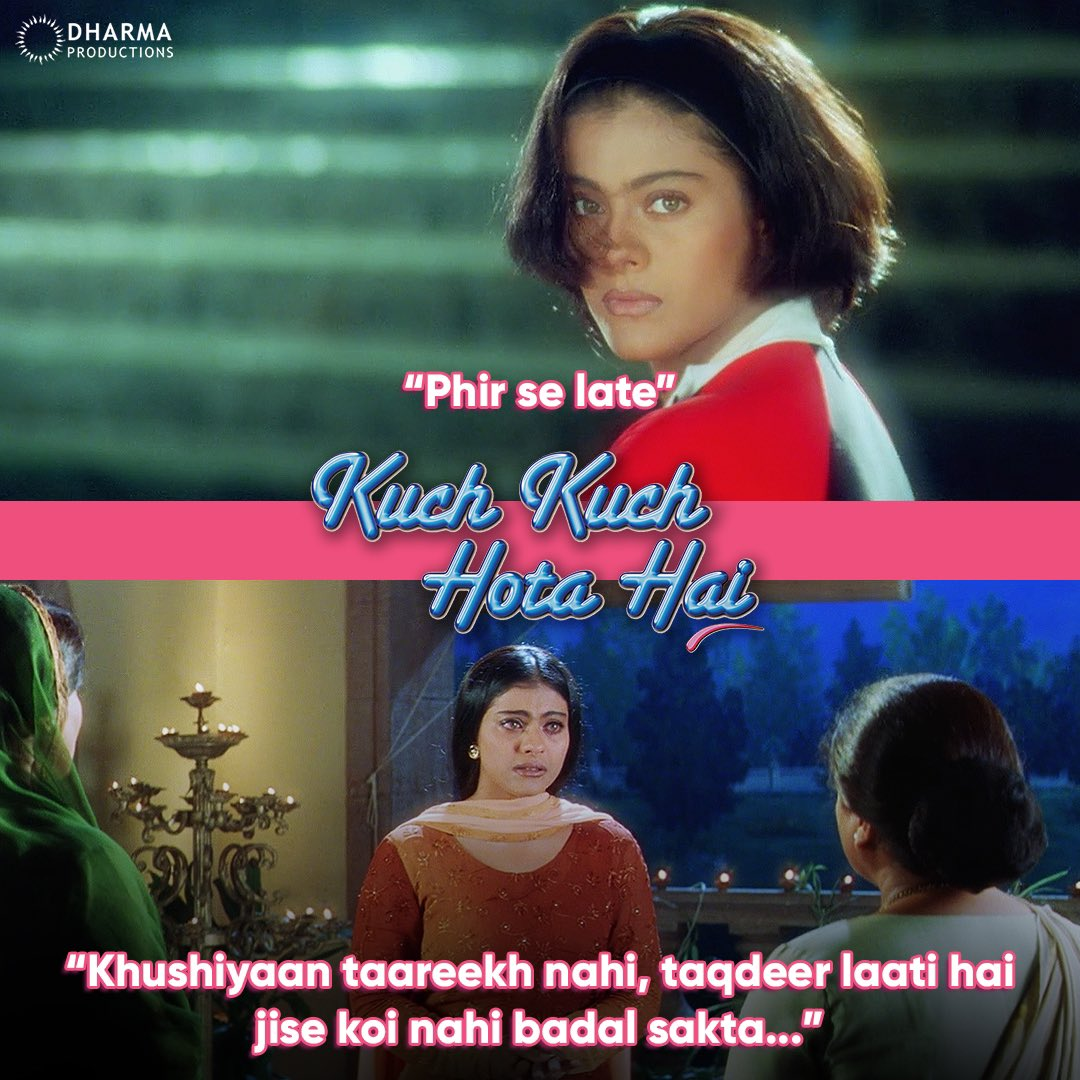 Between these lines lies the story of Rahul, Anjali & Tina that has a special place in all the hearts! ♥️ #KuchKuchHotaHai @itsKajolD #KKHH
