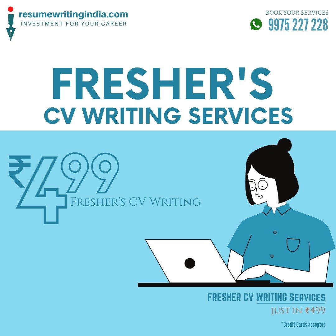Freshers CV Writing Services Just in ₹499  #Freshers #FresherJobs  #ResumeWriting #CVWriting #LinkedIn #LinkedInWriting #CloverIndiaHR #ResumeWritingIndia #FindAPro