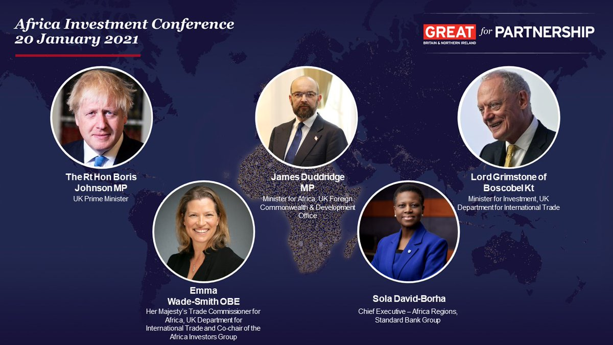 To mark the one-year anniversary of the 2020 UK-Africa Investment Summit, today @tradegovuk will host the #AfricaInvestmentConference bringing together UK and African businesses to discuss current and future opportunities across the continent. #UKAfricaTrade https://t.co/ayhrDccfQK