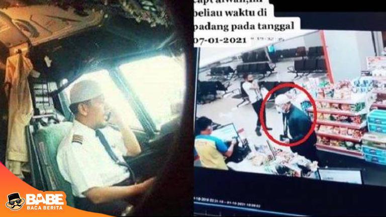 Dua Hari Sebelum Sriwijaya Air Jatuh Kapten Afwan Terpantau CCTV, Gerak-geriknya Banyak Dipuji #sriwijayaair #Pesawatudara