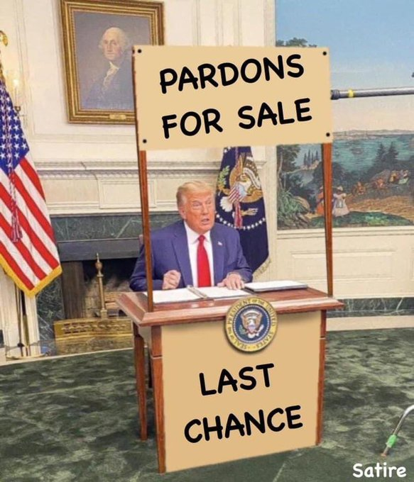 What??? Pardon me? He grants #clemency to 143 people, but not himself or family members, in one of final acts of his presidency #pardons  #Pardons