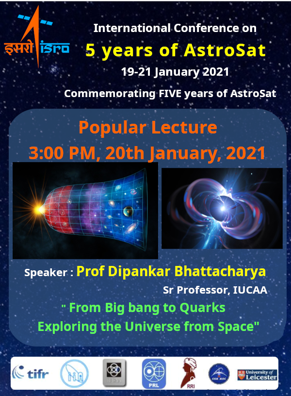 Watch this popular lecture at 1500 hrs IST today at  which will showcase Indian efforts in Space Astronomy.  #AstroSatConference