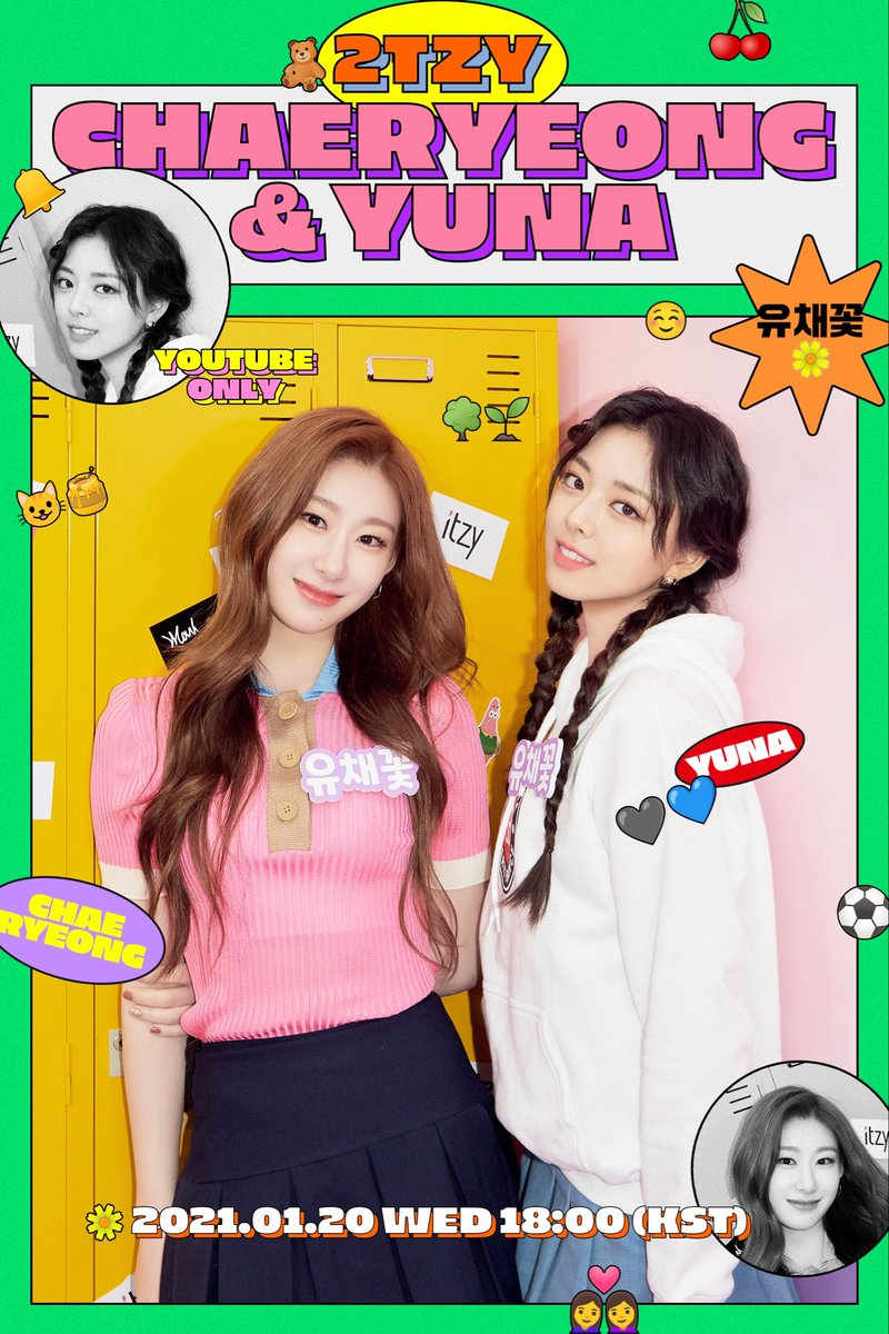 🎁 2TZY : Hello 2021 🎁  EP.03 CHAERYEONG & YUNA 2021.01.20 WED 18:00 (KST)  🎬 https://t.co/iP7csaFwI8  #ITZY #있지 @ITZYOfficialI  #MIDZY #믿지 #CHAERYEONG #채령 #YUNA #유나 #2TZY #HELLO2021 https://t.co/Lm0Qeeq61d