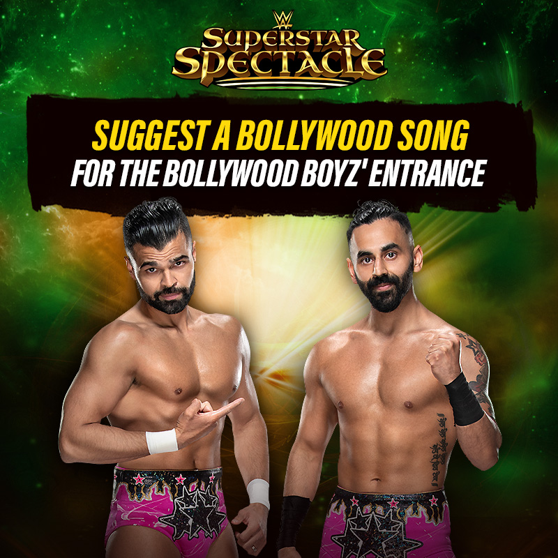 Which #Bollywood song would be a perfect fit for The @BollywoodBoyz' entrance?   #WWESuperstarSpectacle @SonySportsIndia