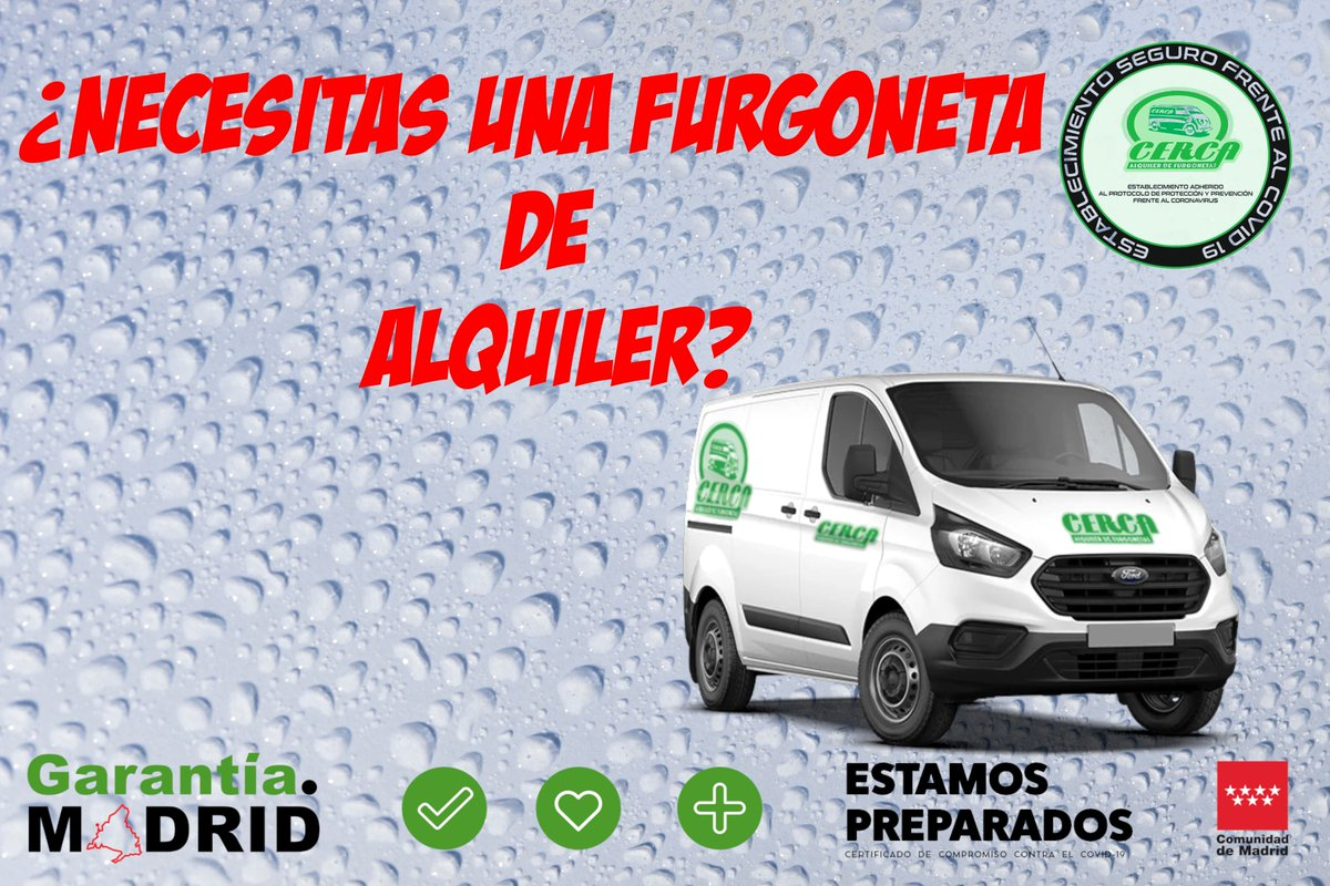 Necesitas alquilar una #furgoneta hoy #Miércoles? ℹ️ 📲646 45 28 71 / 91 641 18 48 . . . #Cerca #Alcorcón #FelizMiércoles  #20Enero #20gennaio #InaugurationDay #hispanicmcyttwtselfieday #wednesdaythought #WednesdayMotivation #WednesdayWisdom #CiSaràSempre
