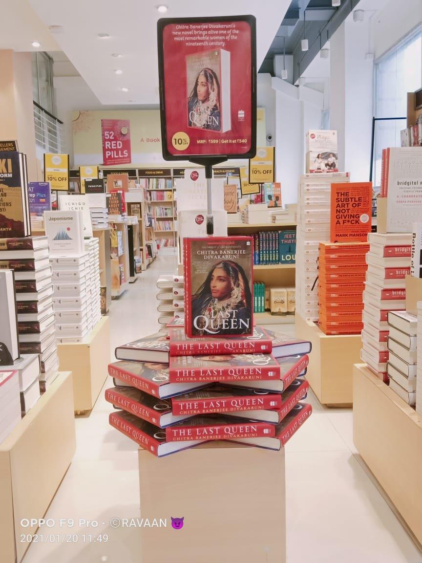 Out today! #TheLastQueen in all her splendour @crossword_book @HarperCollinsIN @cdivakaruni