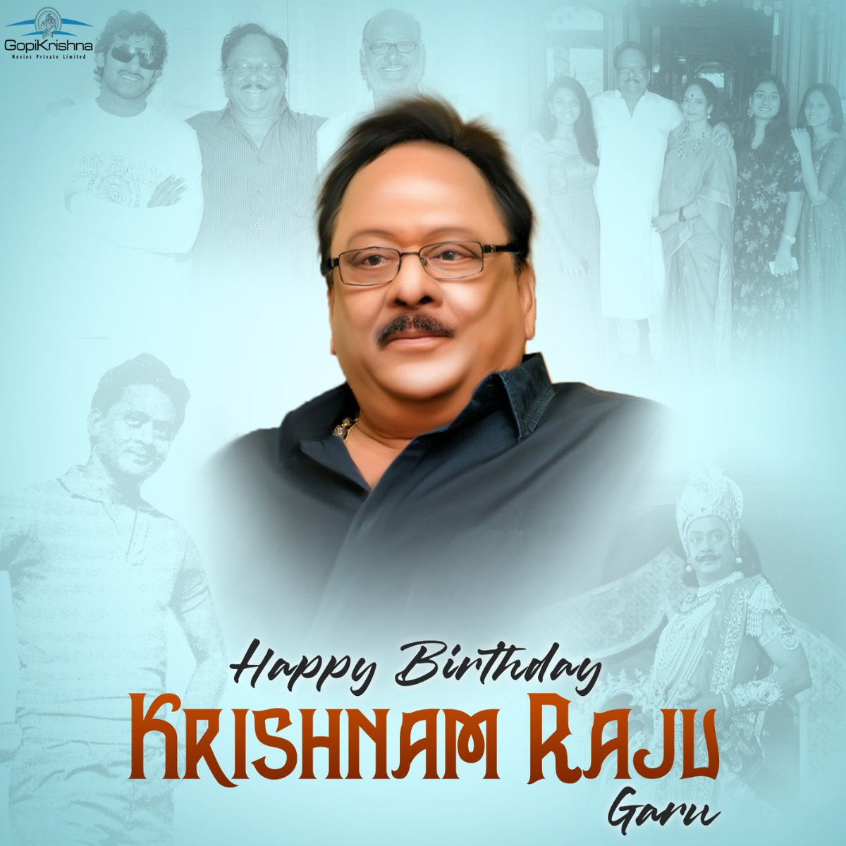 For spearheading a massive production house, for being the leading man of several blockbusters, for setting cinematic benchmarks 🙏 Wishing our Rebel Star @UVKrishnamRaju garu a very Happy Birthday ❤️🎉 #HBDKrishnamRaju