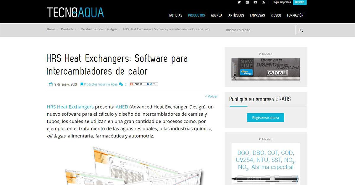 """test Twitter Media - HRS publica en @tecnoaqua """"HRS Heat Exchangers: Software para intercambiadores de calor"""". Leer Más: https://t.co/Fwi2QGP2A0 @AHEDSoftware #softwaredesign #heatexchangers https://t.co/bafzVHJgIH"""