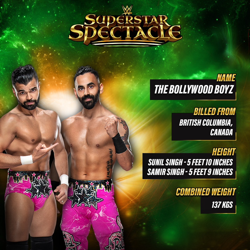 Lights! Camera! Presenting: The @BollywoodBoyz Sunil & Samir Singh... coming soon on your TV.   Don't miss #WWESuperstarSpectacle on @SonySportsIndia.