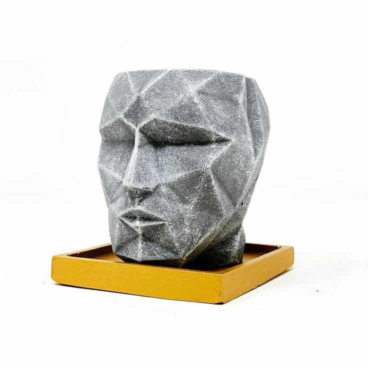 Just Pinned to Houseplant Pots | Planters: Isn't this handmade face planter cool?! I love the sleek modern design. Any plant would look great in this planter! #houseplants #planters #houseplantpots #indoorplants #indoorjungle #gardenroom #affiliate #JayD…