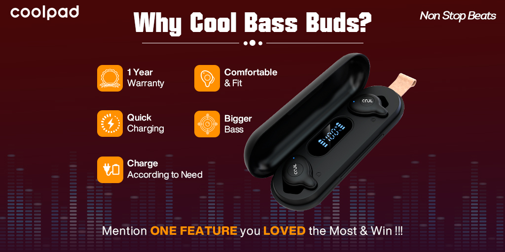 #Coolpad #RepublicDaySale #Amazon #Sale #Contest #CoolBassBuds Quick charging is the best feature in today's era because no one wants to wait for long to get charge the device @CoolpadInd India's No.1 Brand ❤️❤️ Join @cutelynumb9 @ishanagarwal24 @Crazybunty @yashvig009