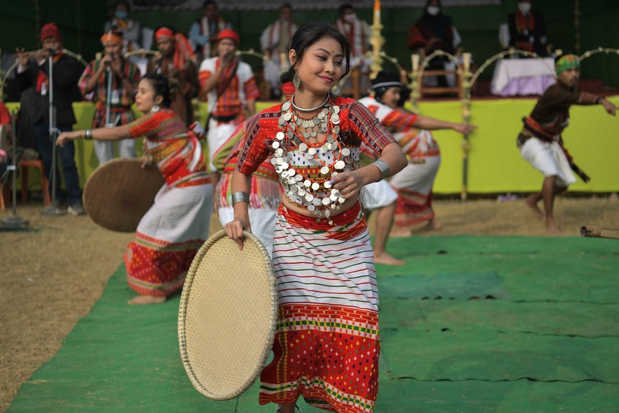 Kokborok Day, also called the Tripuri language Day, was celebrated in India's northeastern state of Tripura on Jan. 19 to mark the development of the Kokborok language.