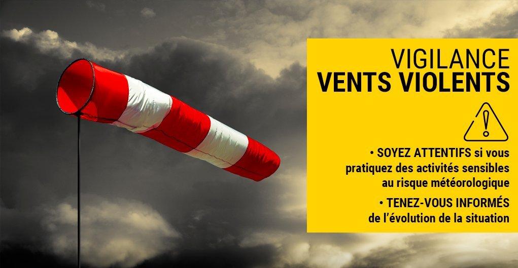 ⚠️ L'#Aisne en #vigilance jaune vent violent à compter de ce mercredi 18h00 et jusqu'à jeudi 21 janvier 7h00. @meteofrance Adaptez votre conduite aux conditions météorologiques. Fixez les objets sensibles aux effets du vent. https://t.co/MvokMbdqu1