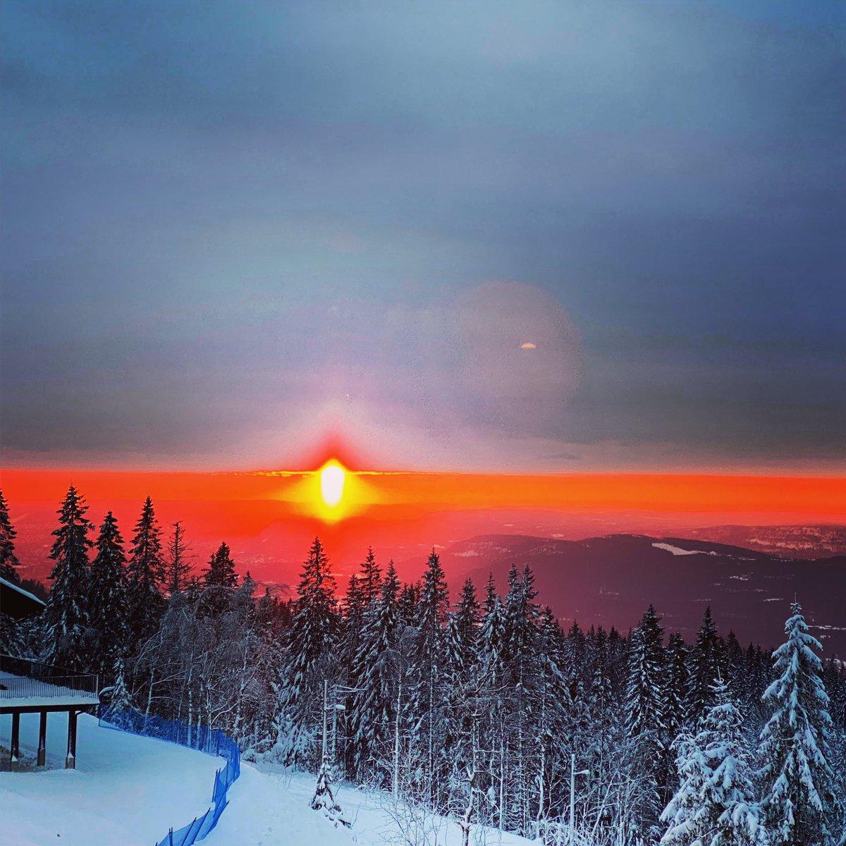 The sky above Oslo #sky #oslo #woods #dawn #zalazaksunca #zalazak_sunca #sunset #sungoingdown #nature #winter #travel #amazing #redsky #redskyatnight #redskyatmorning #redskyatnightsailorsdelight #redskyperformance #redskyline
