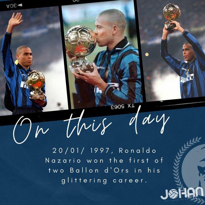 #Onthisday #Ronaldo #Johan_Tips #trusttheprocess #worldfootball #ballondor #1997 @ronaldo