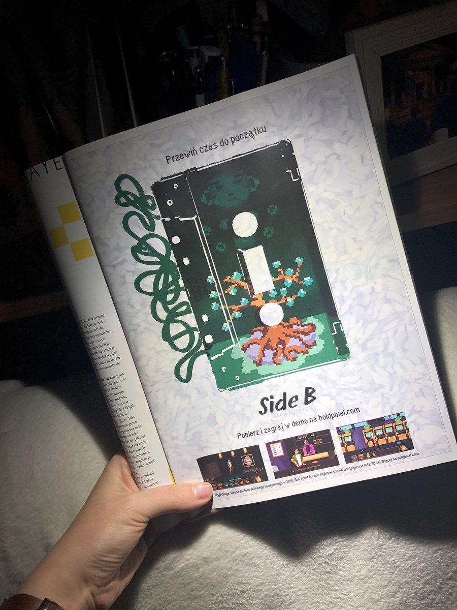 Reklama prasowa #SideB 🧩   Zagraj w demo na   🍀 Obserwuj @Side_B_1998   Dołącz do nas na Discord