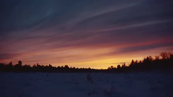 #Vibrant #Sunset (#Stock #Footage) Download Stock Footage -   Vibrant sunset over the #northern #lands.